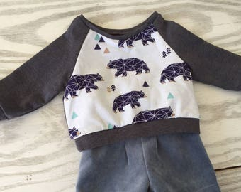 Sweatshirt with bears for babyboy