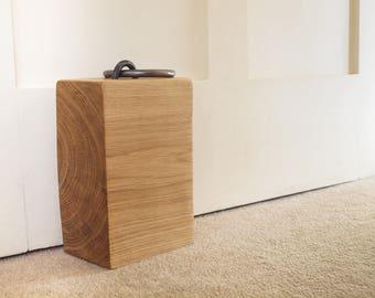 Unique Handcrafted Oak Door Stop - Medium Sized 2-3kg