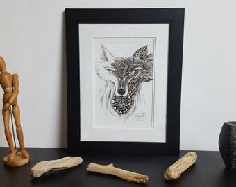 """The Fox"" print"
