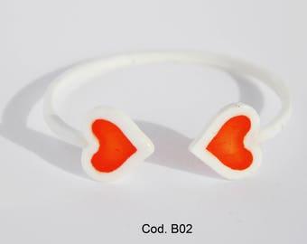 Hearts bracelet 3d printed   / Braccialetto Cuori Stampa 3d