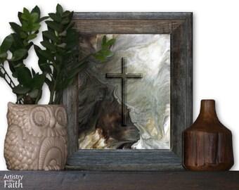 Christian Cross, Christian Wall Decor, Christian Home Decor, Religious Decor, Religious Wall Art, Religious Art, Spiritual Art