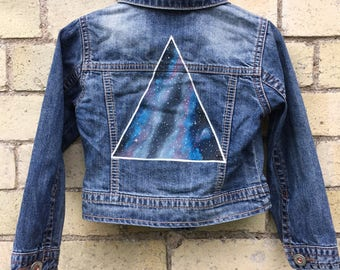 Handpainted Kid's Denim Jacket 3-4yrs