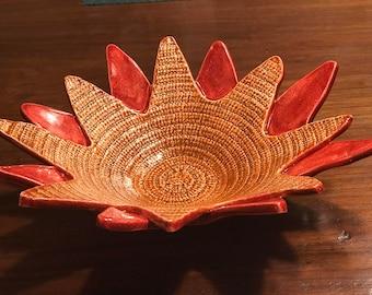 Hand Painted Glazed Sunrise Bowl