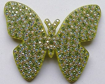 1980S STYLE designer butterfly perspex brooch