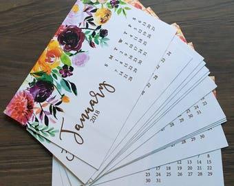 2018 Gold Foil Signature Floral Desk Calendar