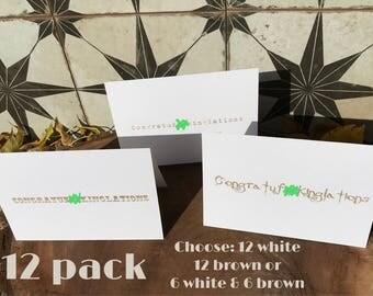 12 pack Congratuf*ckinglations Cards