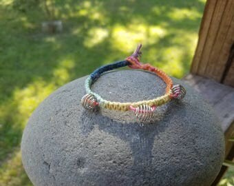 Rainbow hemp with spiral cages