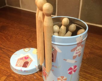 Montessori Practical Life Peg Tin