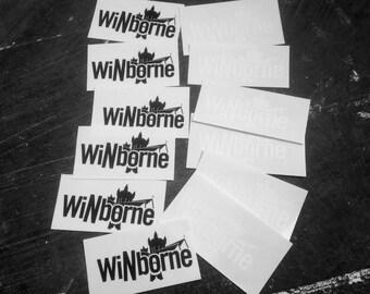 WiNborne Screen Printed Sticker Pack