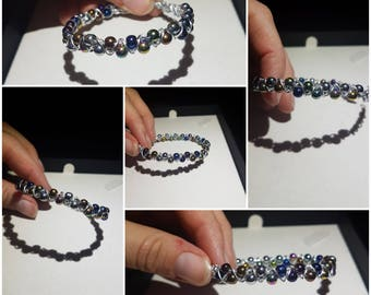 bead and wire wrap bracelet
