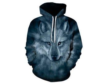 Wolf Hoodie, Wolf, Wolf Hoodies, Animal Prints, Animal Hoodie, Animal Hoodies, Wolves, Hoodie Wolf, Hoodie, 3d Hoodie, 3d Hoodies - Style 35