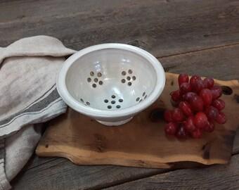 Colander – Pottery berry bowl, Colander & strainer, Ceramic, Stoneware, Handmade, Wheel thrown