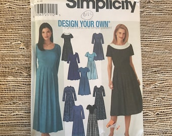 Simplicity 9829 Design Your Own Dress Pattern Fit for Petite