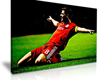Steven Gerrard Liverpool FC Champions Icon Canvas Wall Art Picture Print 76 cm x 50 cm