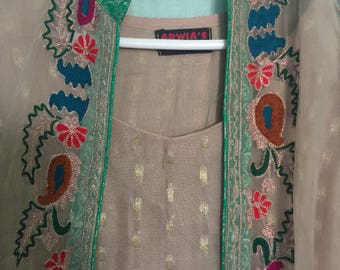 Shalwar Kameez with Embroided Gown