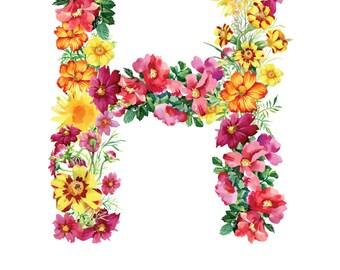 Letter H Print - Harper Nursery Art - 11x14in
