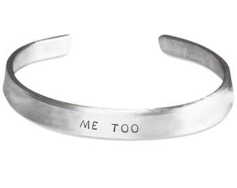 Me Too Cuff Stamped Bracelet | Pure Aluminum