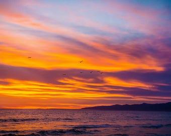 Venice Sunset,Digital Download,Venice Beach Photos,California