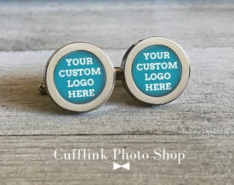 Gift For Bosses Day, Custom Photo Cufflinks, Gift For Boss Cufflinks, Customized Cufflinks, Photo Cuff Link, Personalized Cufflinks