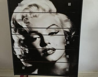 Marilyn Monroe inspired Upcycled Retro Chest of Drawers