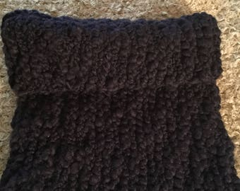Hand knitted chunky scarf warm