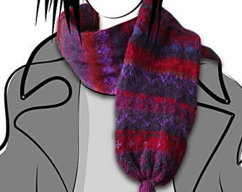 Womens Scarf, Hand Knit Scarf,Cable Knit Scarf,Long Winter Scarf, Fringed Scarf