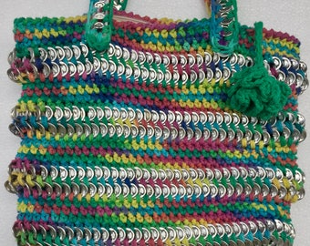 Recycled Soda Can Tab Purse