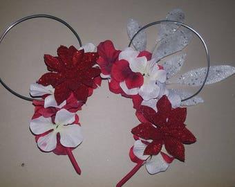 Christmas Floral Ears