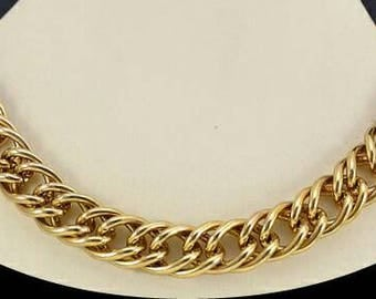 Vintage 1980s Erwin and Pearl / Neiman Marcus Chain Link Choker Necklace, Statement Piece Designer Jewelry
