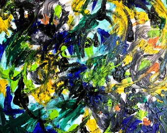 Benzos No. 1, acrylic on canvas board, 20% of all sales will be donated to mental health non-profits!!!