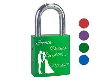 """Love Castle with personalized engraving """"couple"""" individually engraved with name and date Valentine's Day wedding gift couples Love"""