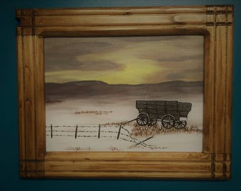 The Ole' Wagon  Total size 12 x 15