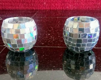 Disco Ball Votive Candle Holders