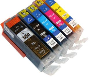 Ink cartridge for canon pixma PGBK PGI-550 complete package / CLI 551