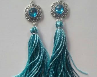 Earring CASSUAL Turquoise Fringe