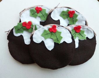 Christmas Pudding Coin Purse