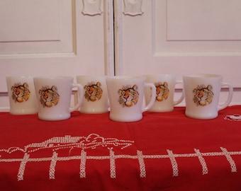 Esso Tiger Fire King Coffee Mugs