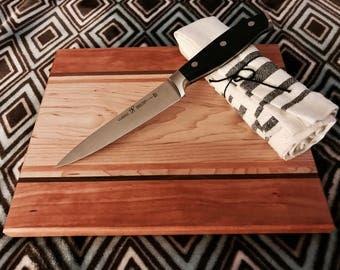 Hand made Cutting board. Maple, Cherry, Walnut