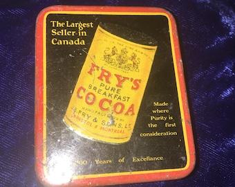 1900's Fry's Cocoa Mini Tin