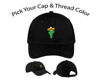 Sombrero Cactus Dad Cap, Sombrero Cactus Dad Hat, Sombrero Cactus, Dad Cap, Dad Hat, Funny Hat, Cap, Hat, Cactus Hat, Cap Daddy