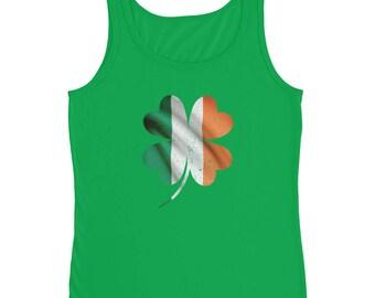 St Patricks Day Ladies Tank Top    Vintage Irish Clover Flag    Women Men gift    Celebrate St Patty's Day    Shamrock    Lucky Tank Top