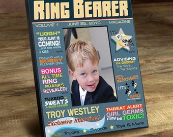 Personalized Ring Bearer Magazine Frame - Ring Bearer Gifts - Ring Bearer Photo Frames - Personalized Ring Bearer Gifts - Ring Bearer Frames
