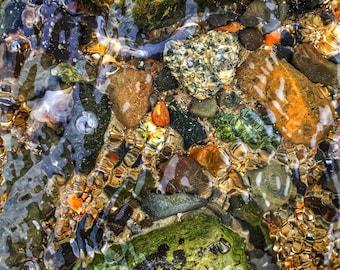 Rainbow Pebbles - Newcastle, New Hampshire - Photography