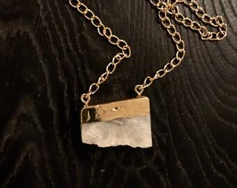 Rough Split-Face Crystal pendant