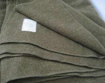 Vintage Military Issued Wool Blanket