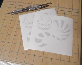 Cheshire Cat Sticker  |  Alice in wonderland decals