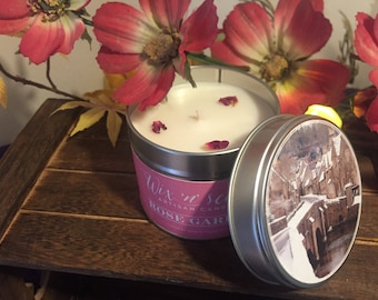 Rose Garden Hand Made Scented Candle.