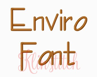 50% Sale!! Enviro Embroidery Fonts 2 Sizes Fonts BX Fonts Embroidery Designs PES Fonts Alphabets - Instant Download