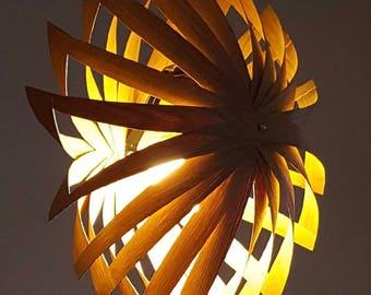 Oak leaves hanging lamp / / painted aluminum socket attachment