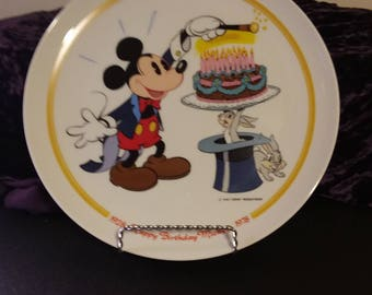 Mickey Mouse 50th birthday collectable plate